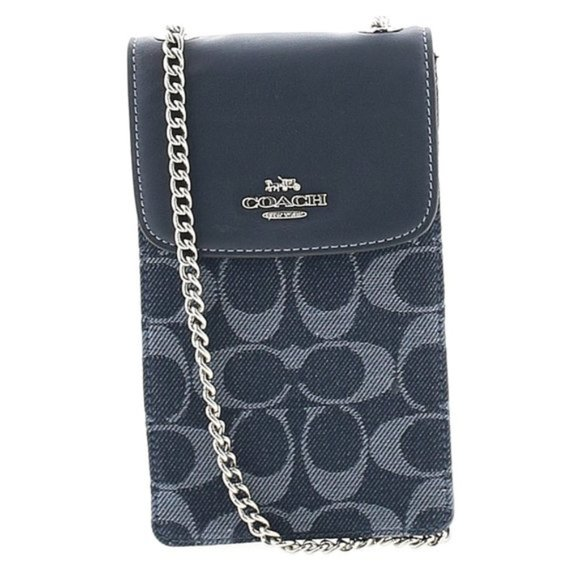 Coach Denim Signature Phone Crossbody